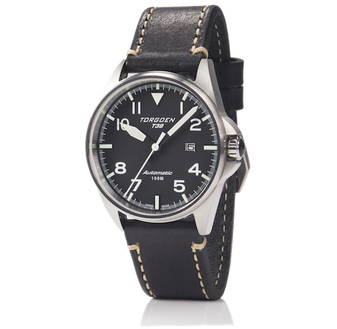 T38 Black Automatic | 44mm - Vintage Leather Strap