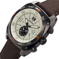 T7T Tactical Cream | 43 mm - Brown Nylon Strap