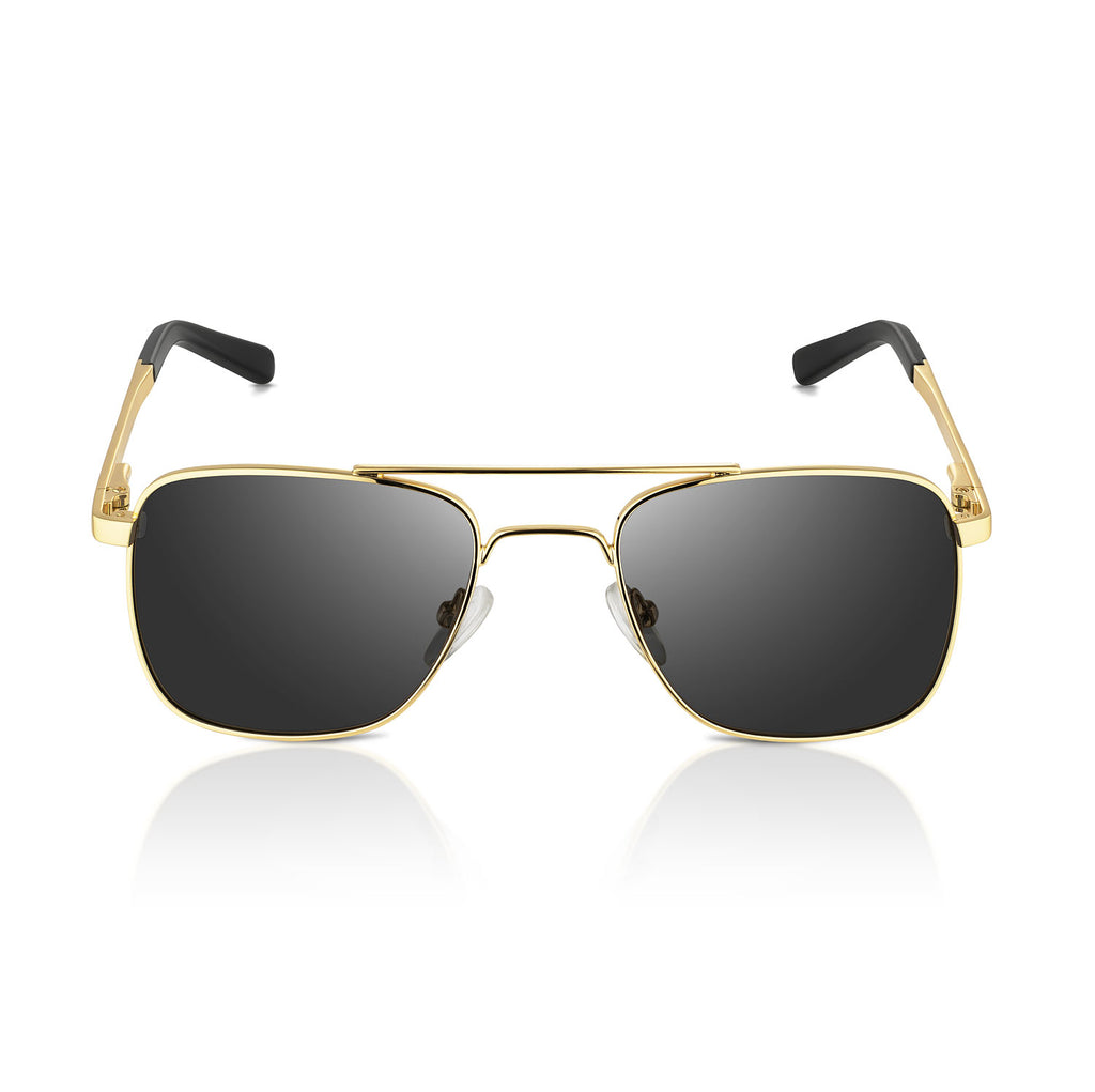 Golden Square Aviator Sunglasses