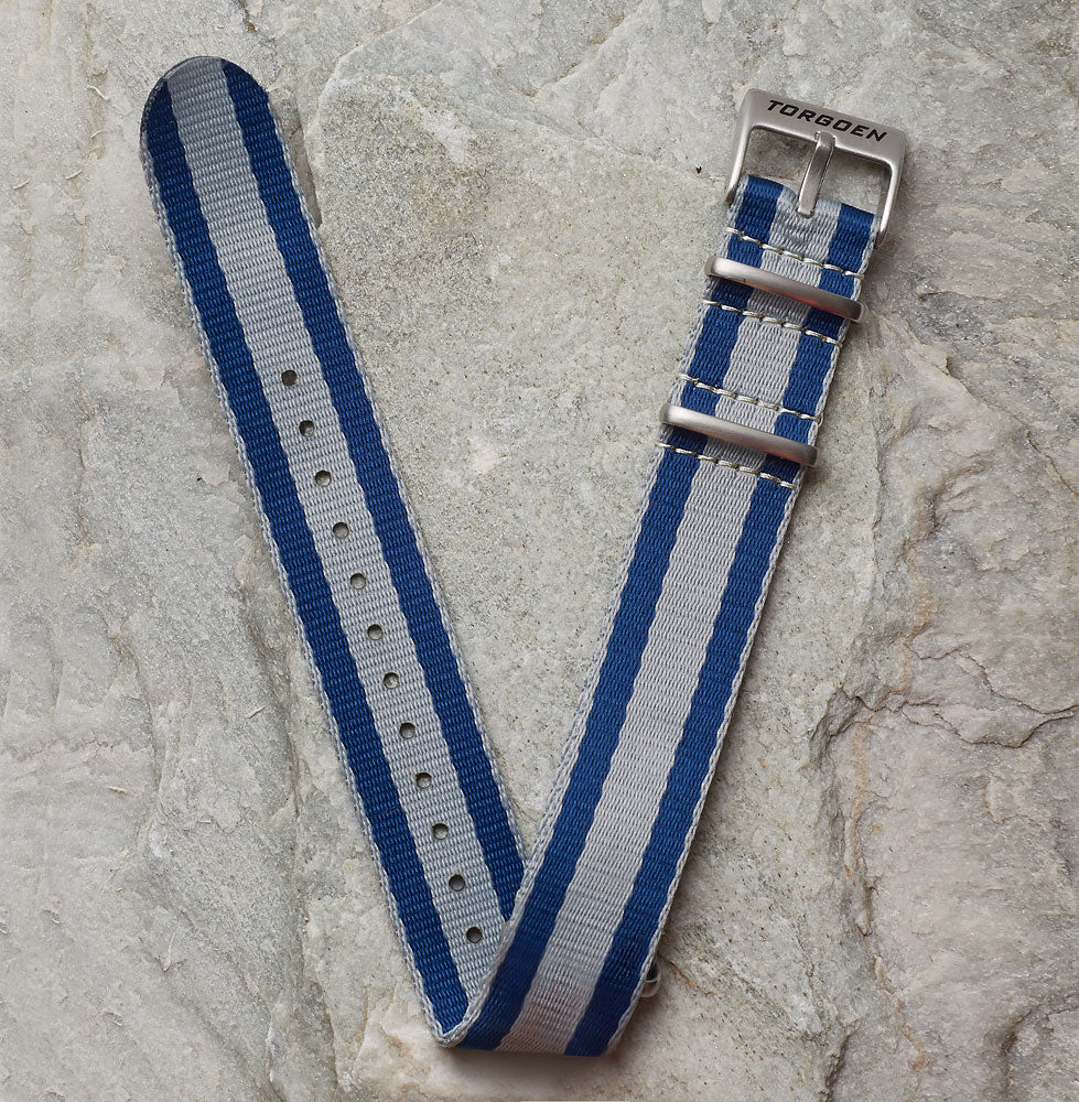 Blue and Grey Nato Strap | 22mm