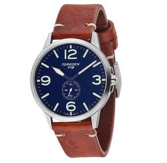T19 Bluebird | 40mm - Brown Leather Strap