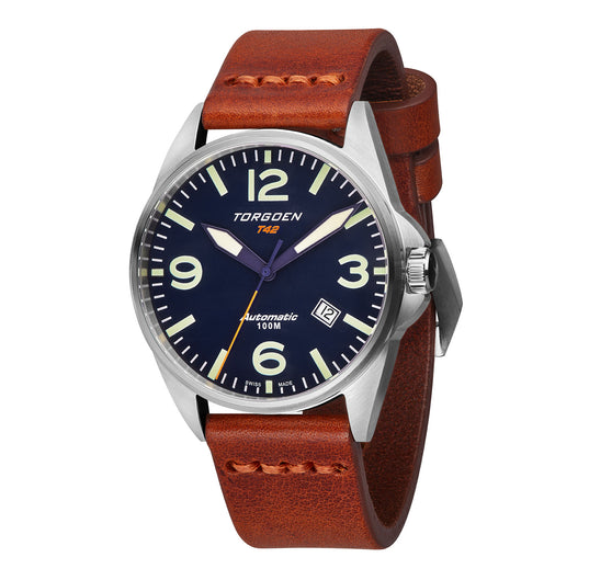 T42 Blue Automatic | 41mm - Vintage Leather Strap