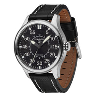 T34 Black | 45mm - Black Leather Strap