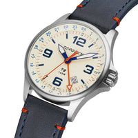 T9 Lazuli GMT | 42mm  - Blue Leather Strap