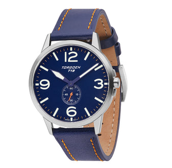 T19 Blue Robin | 40mm - Blue Leather Strap