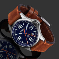 T9 Bluebird GMT | 42mm  - Brown Leather Strap