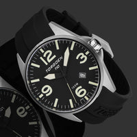 T10 Turnstone | 44mm - Black Silicone Strap