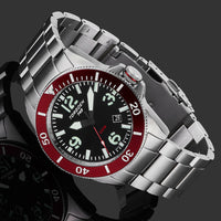 T43 Red Diver Sapphire | 44mm - Silver Bracelet