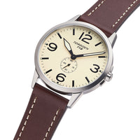 T19 Slim Swan | 40mm - Brown Leather Strap