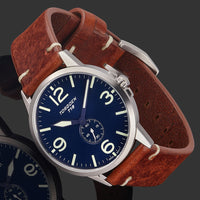 T19 Slim Bluebird | 40mm - Brown Leather Strap