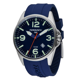 T10 Blue Robin | 44mm - Blue Silicone Strap