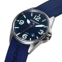 T10 Dark Blue | 44mm - Blue Silicone Strap