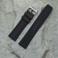 Black Silicone Strap | 22mm