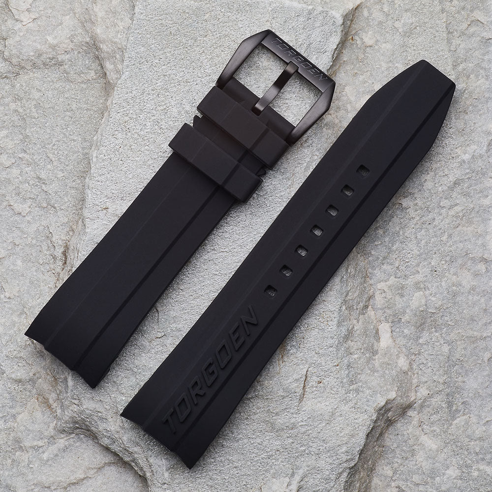 Black Silicone Strap | 24mm Form Fit