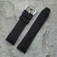 Black Silicone Strap | 24mm