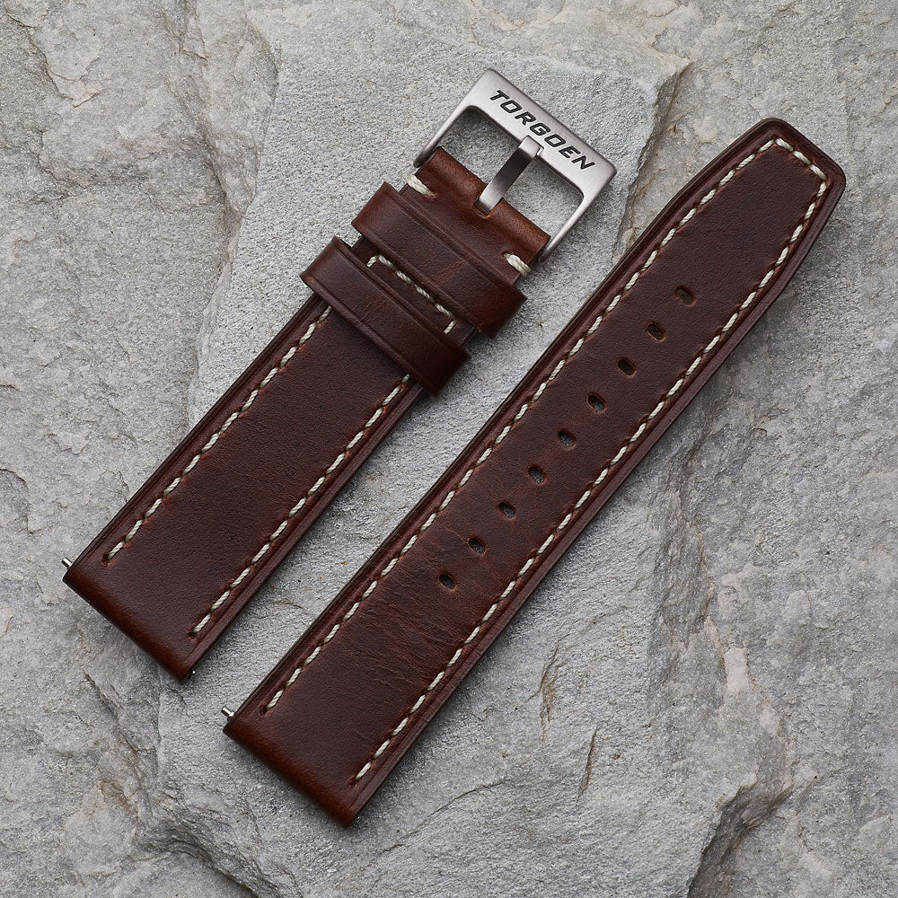 XL Dark Brown Leather Strap | 24mm