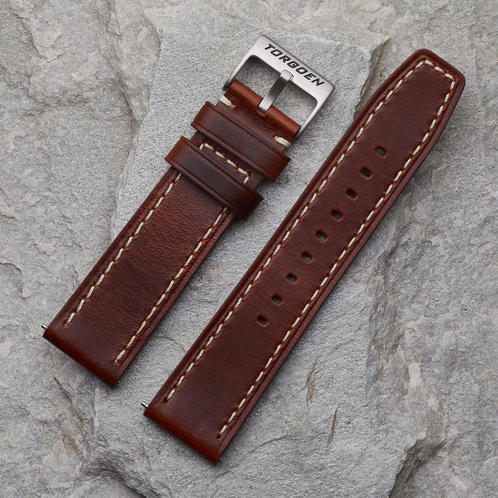 XL Brown Leather Strap | 22mm
