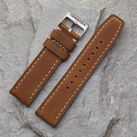 XL Light Brown Leather Strap | 24mm