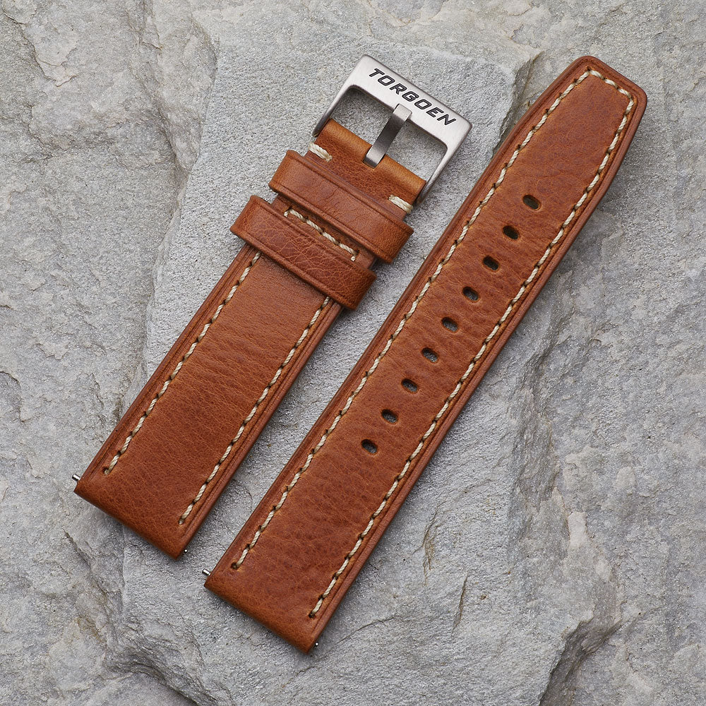 XL Brown Leather Strap | 24mm