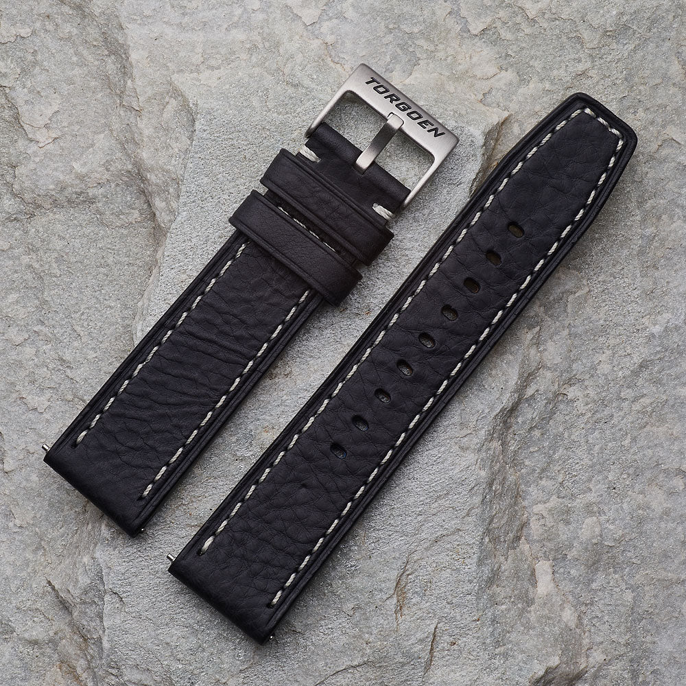 XL Black Leather Strap | 24mm