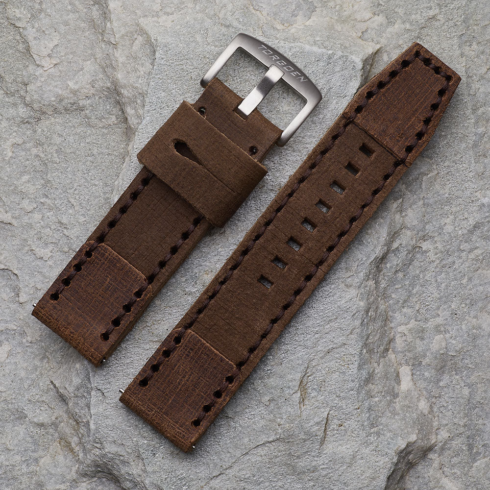 Tan Distressed Leather Strap | 24mm