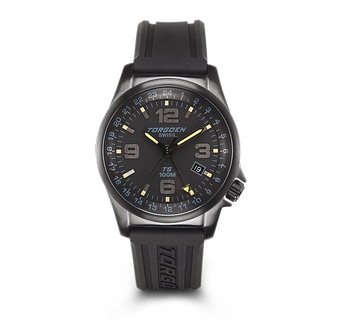 T05 Black | 42mm - Black Silicon Strap