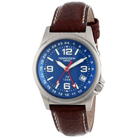T05 Blue GMT | 34mm - Leather