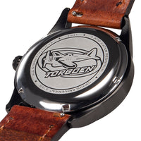 T101 Black Cardinal | 41mm - Brown Leather Strap
