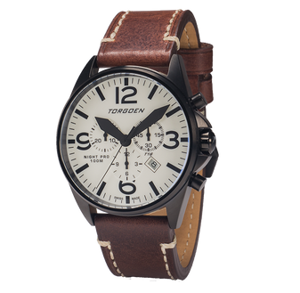 T16 Night Pro | 44mm - Brown Leather Strap