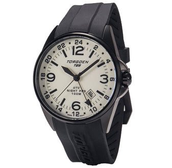 T25 Cream Dial - Night Pro | 44 mm - Black Silicon Strap