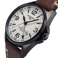 T25 Cream Dial - Night Pro | 44 mm - Brown Leather Strap
