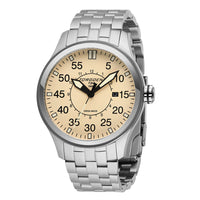 T34 - Cream | 45mm - Metal Strap