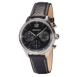 T41 Black | 43mm - Black Leather Strap