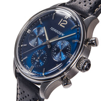T41 Blue | 43mm - Black Leather Strap
