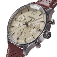 T41 Cream | 43mm - Brown Leather Strap