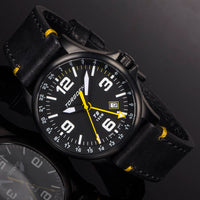 T9 Oriole GMT | 42mm  - Black Leather Strap