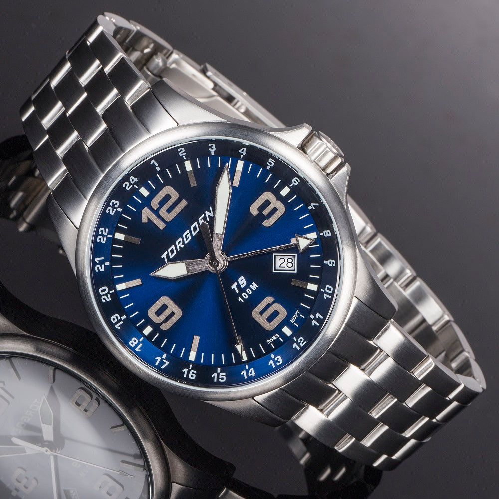 T9 Blue Jay Metal GMT | 42mm  - Metal Strap