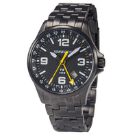 T9 Oriole Metal GMT | 42mm  - Black Metal Strap