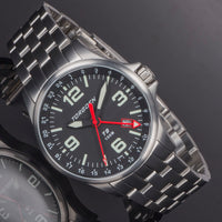 T9 Redwing Metal GMT | 42mm  - Metal Strap