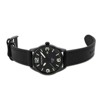 T101 Black Starling | 41mm - Black Leather Strap