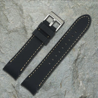 Black Silicone  Strap | 22mm Form-Fit