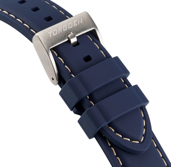 Blue Silicone Strap | 22mm Form-Fit