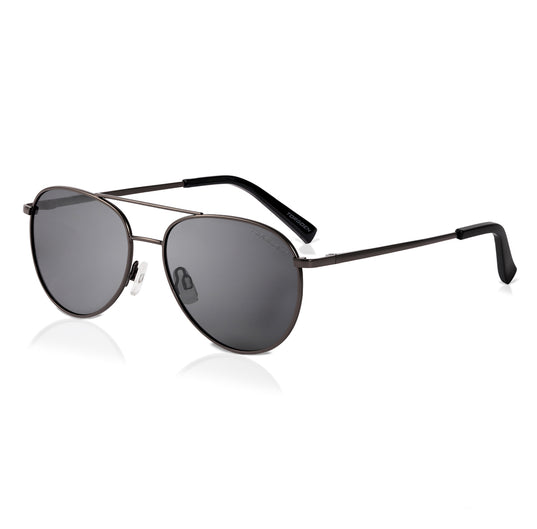Gunmetal Polarized Aviator Sunglasses