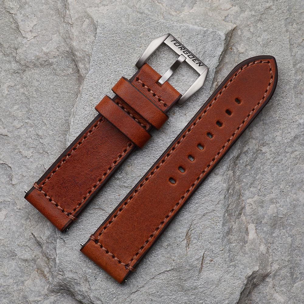 XL Vintage Leather Strap | 24mm