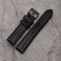 XL Black Leather Strap | 22mm