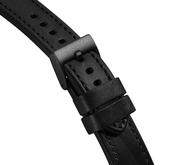 XL Black Strap w/ black stitching | 22mm