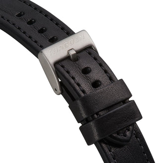 XL Black Strap With black and Blue Stitching | 22mm