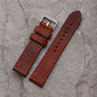 XL Brown Strap w/ orange stitching | 22mm