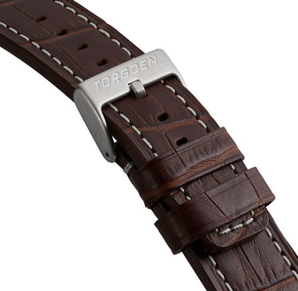 Brown Crocodile Pattern Strap | 22mm