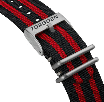 Black red Nato strap | 24mm